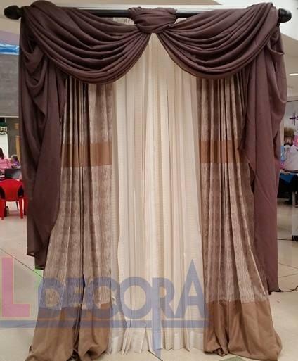 La cortina con drapeado es un diseño elegante y conservador. Recomendado en espacios amplios y formales, apto para casas con diseños coloniales y étnica.